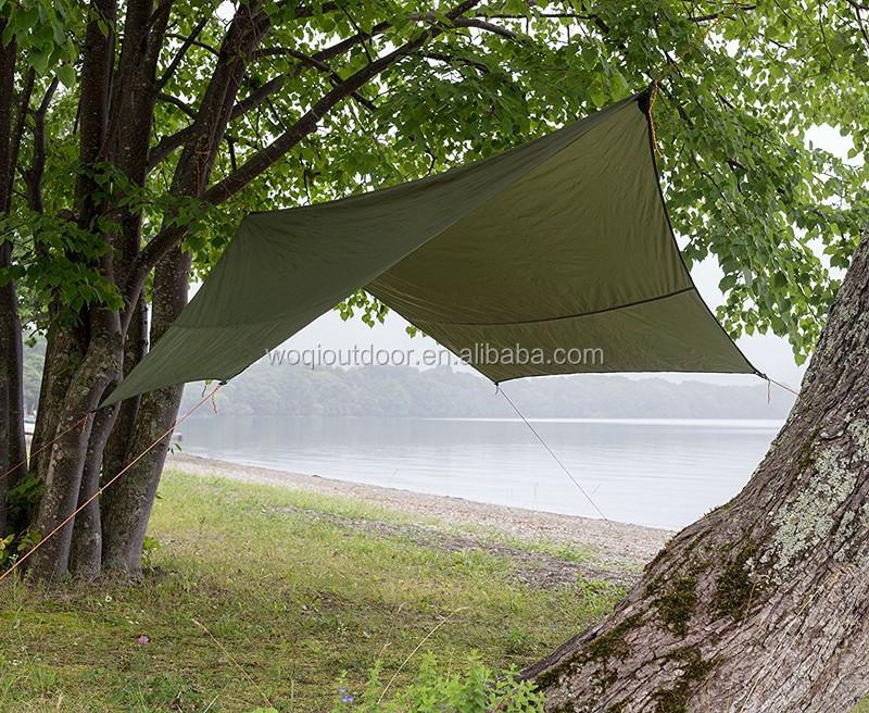 Camo Hammock Shelter Tent Sunshade Outdoor Camping Rainfly Tarp with Stuff Sack