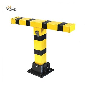 fold down heavy duty steel post yellow not fade road barrier parking lock barrier parking space detector