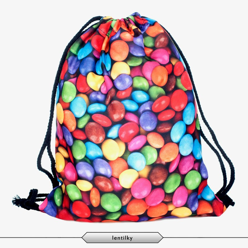 Cheap Nylon Drawstring Bag Mm 3d Digital Printing Drawstring Bag ...