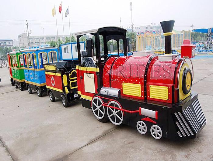 Outdoor Cartoon Electric Train Game Backyard Children