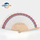 hot selling manual wooden sticks hand fan for decoration