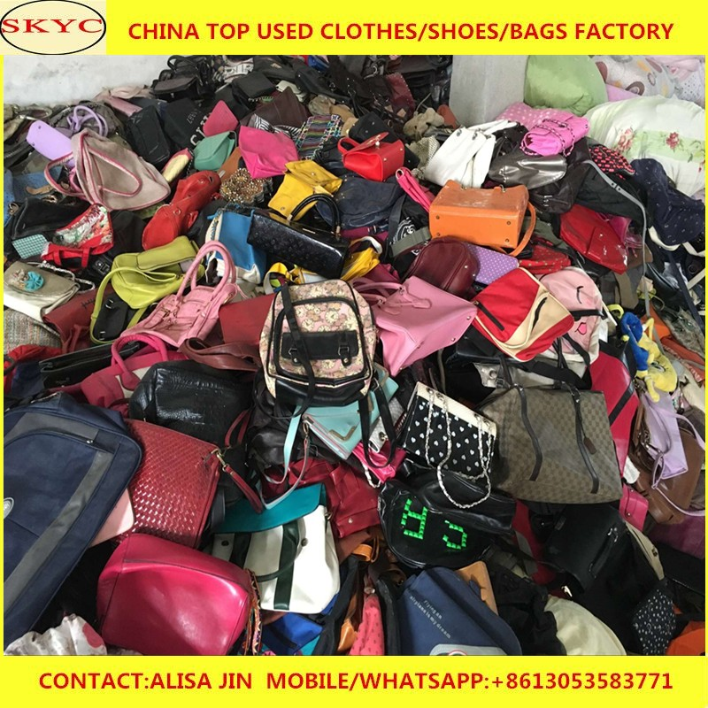 China export mixed used bags in bales cheap second hand clothes women used  handbags in bulk a68de475aa7f6