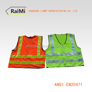 Reflective apparel night vision road safety vest 3m high visibility Construction vest