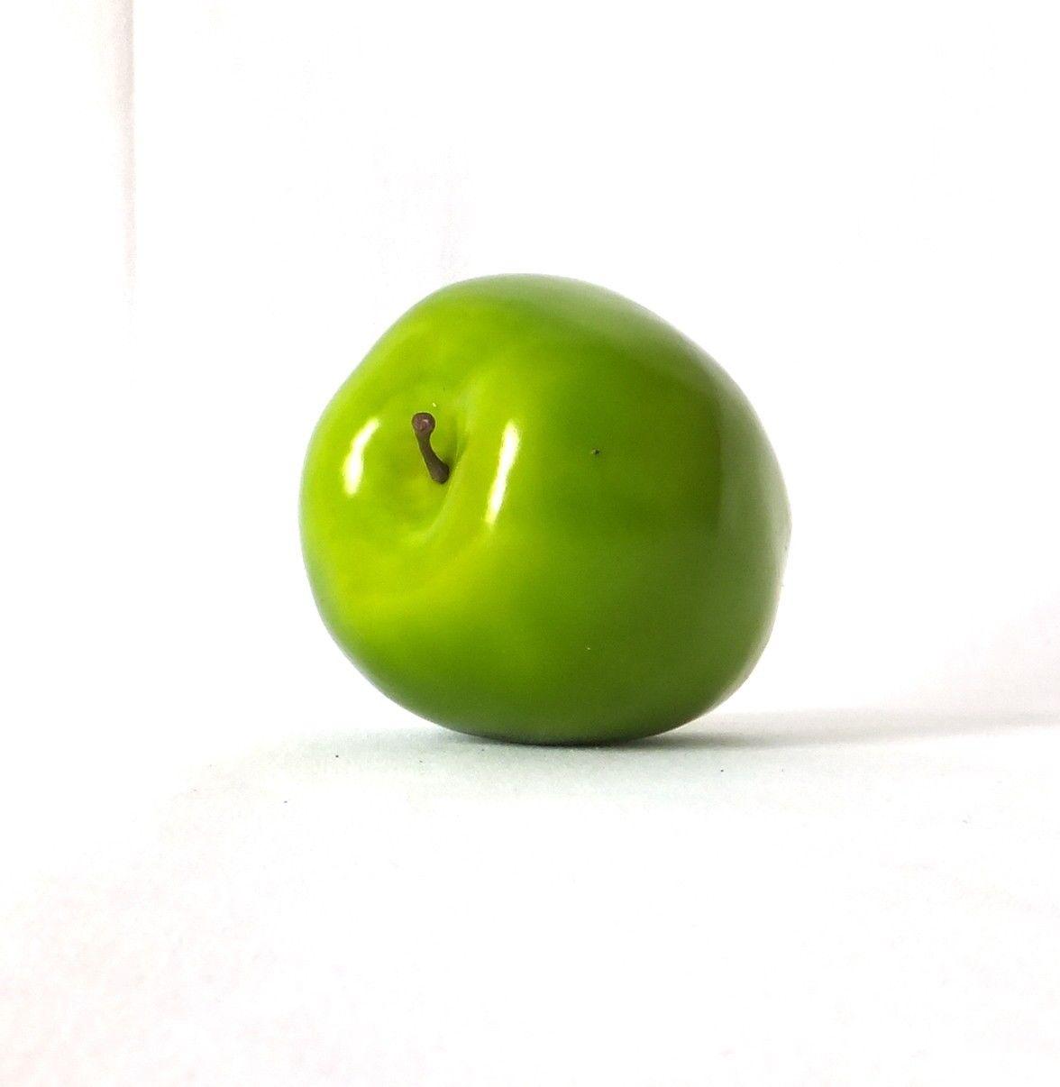 Artificial Green Washington Apple Large - Plastic Decorative Fruit ...