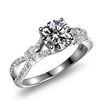 Top quality cubic zircon stone hearts and arrows cutting solitaire infinity ring for women anniversary wedding bridal ring