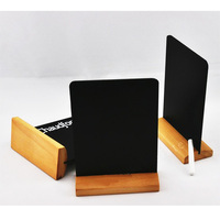 Natural Slate Table Top Mini Square Chalkboards Chalk and Notice Memo Boards