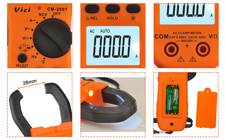 VICI CM-2007 AC Digital Clamp Meter Multimeter