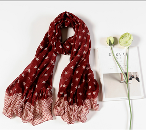 Hot Sale Female Scarves Cape Soft Star Pattern Shawls Women Scarf Shawl