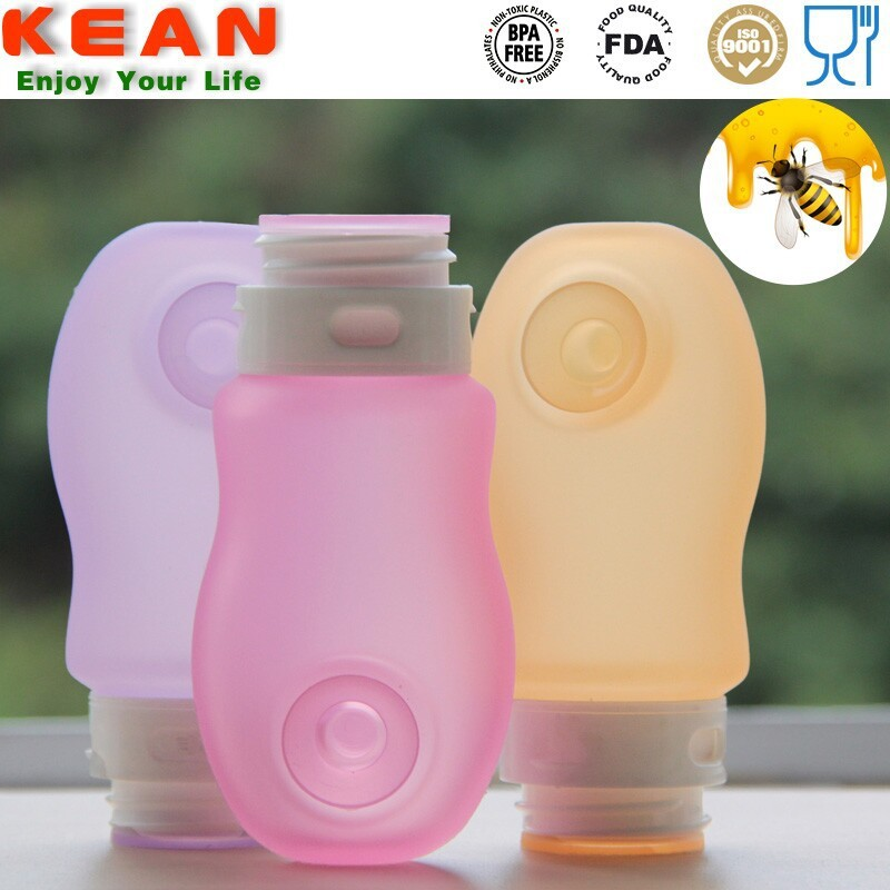 Leak-proof Soft Food Grade Silicone Honey Squeeze Bottle