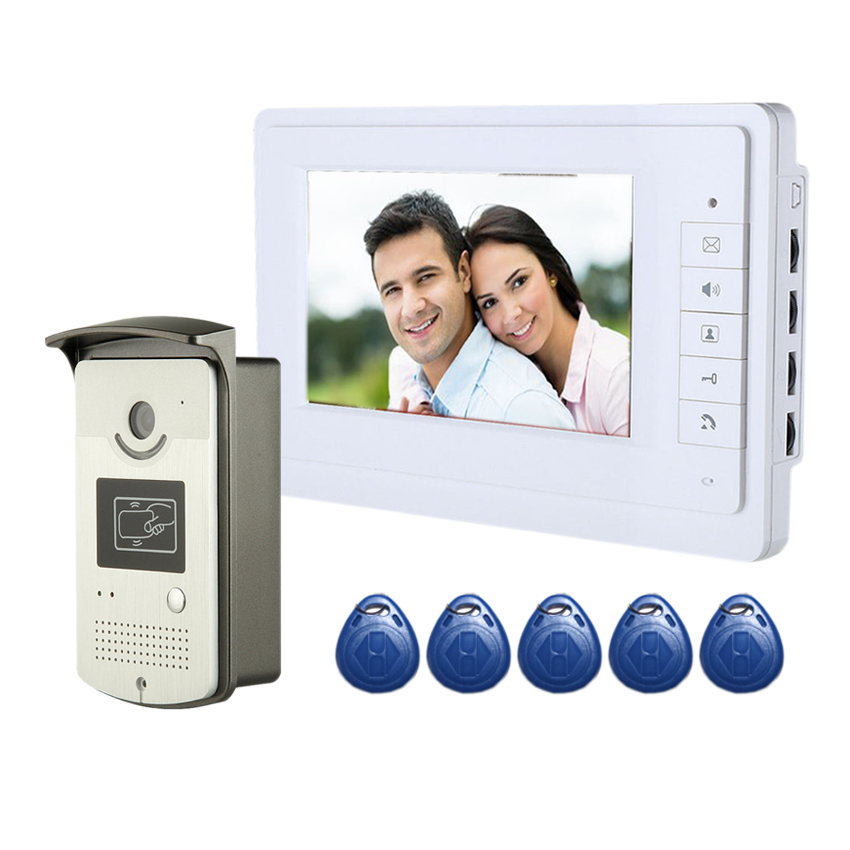 FDL 7''inch Door Entry System Home Surveillance Video Intercom Visual Intercom System Hands Free IR Night Vision Camera
