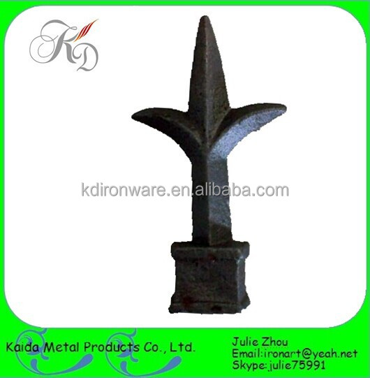 Cheap Wrought Iron Gate Spearhead Fence Finials Gate