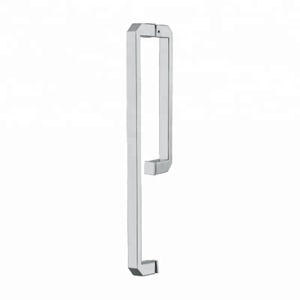 bathroom flat door handle Stainless Steel L Pull Sliding Glass Door Handle for Shower Room