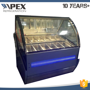 Quality Guaranteed Electric Plating Laminated Defrost Glass Popsicle Tray Gelato Display Case