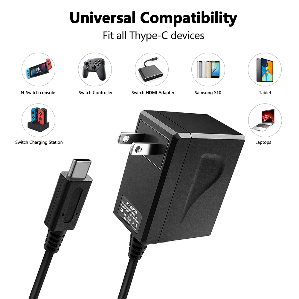 New Version AC DC adapter Fast Charger For Nintendo Switch US EU UK Plug