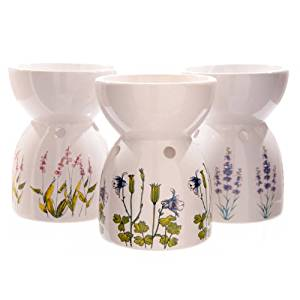 Cheap white flower medicine oil find white flower medicine oil get quotations flower illustration white ceramic oil burner mightylinksfo