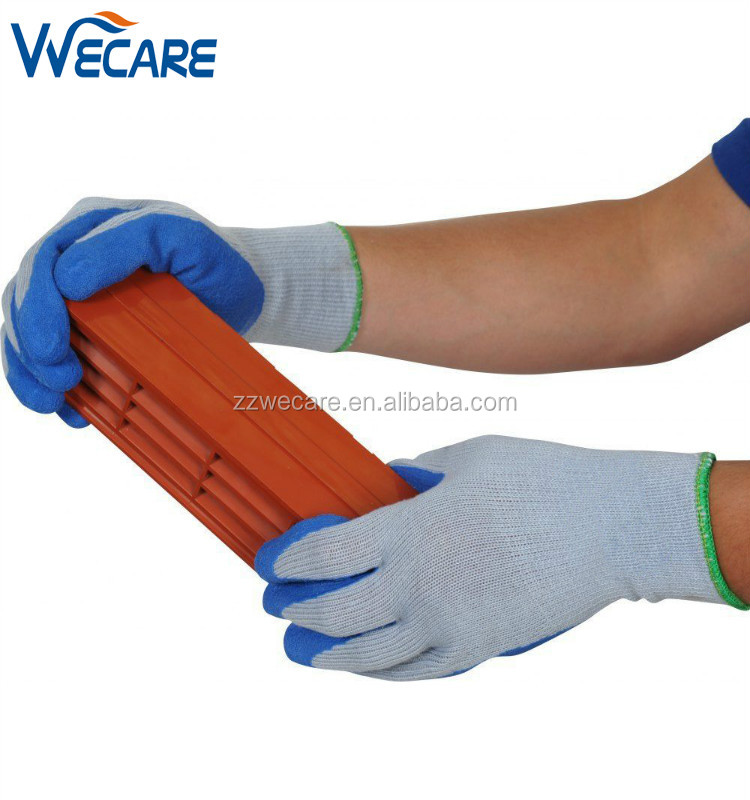 10 Gauge Cotton Knit Textured Rubber Latex Palm Dipped Coated Construction Work Gloves