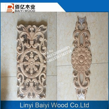 Carved Wood Onlays Overlays Furniture Parts