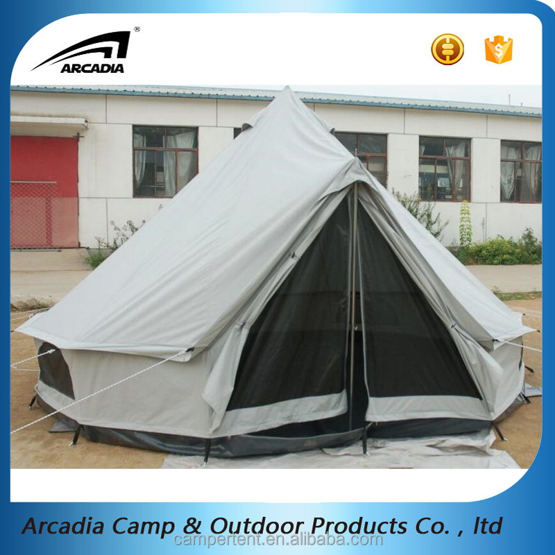 Best seller heavy duty cotton canvas 5m sherpa tent with steel poles