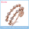 Gold plated jeweleries double knuckle ring top quality opening ring