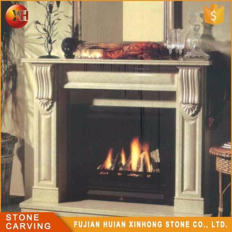piedra natural quemar madera repisa de la chimenea de mrmol negro