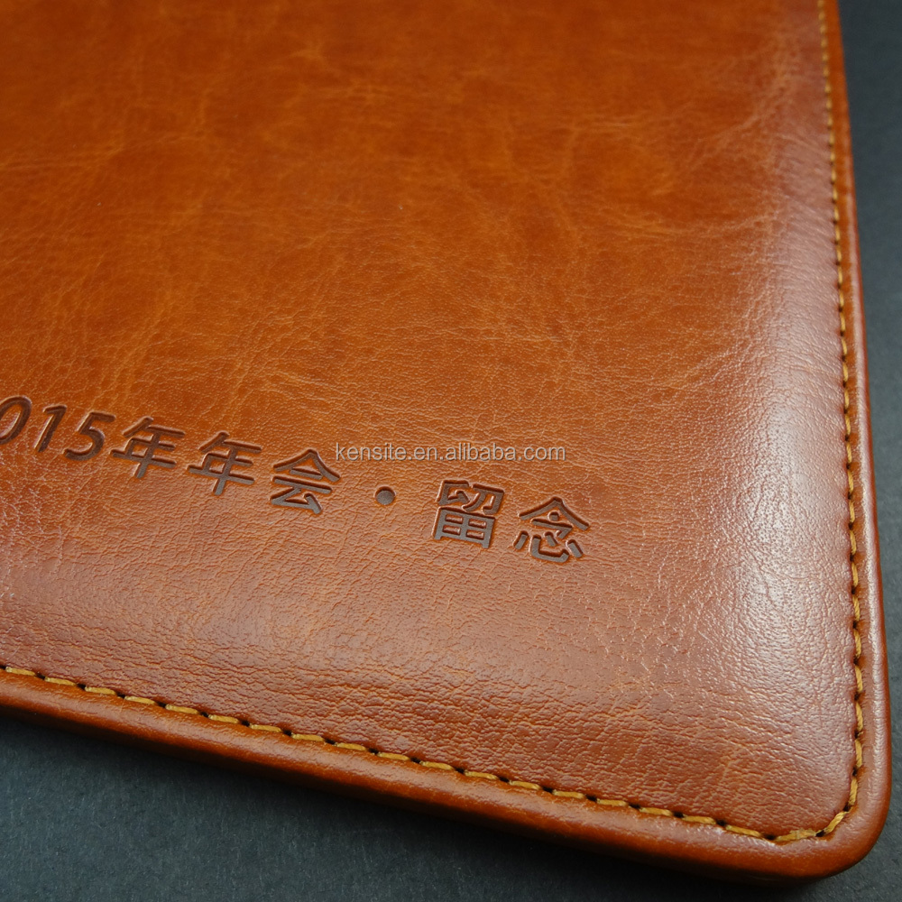 vintage embossed leather book cover A4