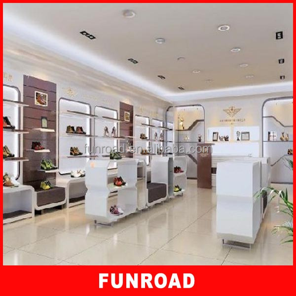 Retail Store Display Equipment Wooden Bag Shop Design