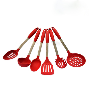 Set Of 6-piece Red Cooking Utensils Set Silicone Tools - Buy Cooking  Utensils Set Red,Red Cooking Tool Set,Cooking Silicone Kitchen Utensils Set  Red ...