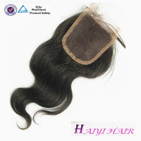 Stock Malaysian Virgin Human Hair Body Wave Lace Top Closure 4*4 inch Swiss Lace Free Part Fast Shipping