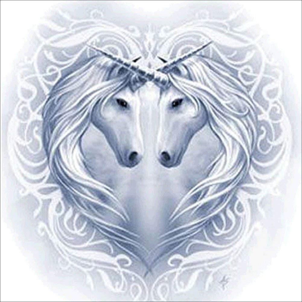 Fairylove 30×40 Diamond Painting Full Drill Love Heart Paint with Diamonds Dotz Kit Cross Stitch Kits Arts Craft, Love Horses
