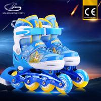 Best Selling PV Wheel Aluminium Bracket Roller Blade Skates Adjustable kids led flash shoes