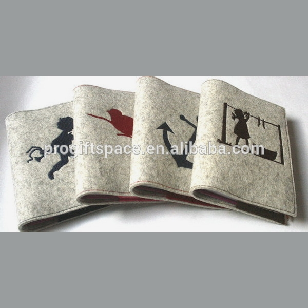 Eco friendly customized Felt notebook blotter memories made in China