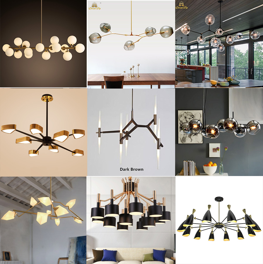 Cutout Modern Chandelier Lamp In Brass Color With Ball Shade