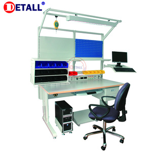 Detall- electrical test working bench for factory working