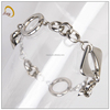 B0495S Stainless steel jewellery manufacturer 316L fashionable and cheap chain&link bracelet