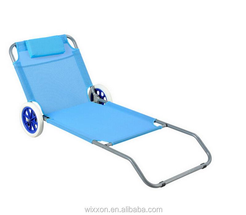 e384fd9bd2b Wooden Armrests Shoulder Straps Folding Backpack Beach Chair Wheels ...