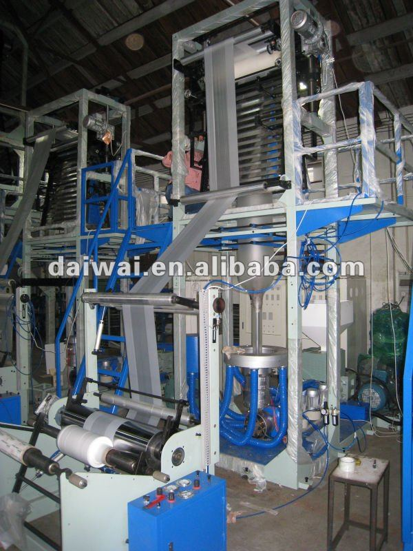 FILM BLOWING MACHINE SHANGHAI with single winder for hdpe/ldpe/lldpe