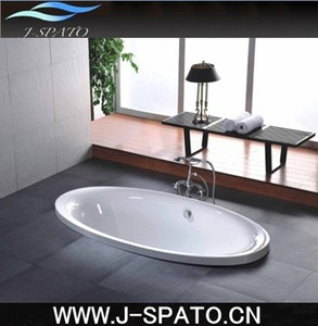 China J-Spato Drop-in Acrylic Plastic Cheap Whirlpool Bathtub With High Quality Shower and Tap Suit