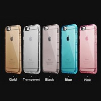 Factory price airbag design anti shock soft shockproof crystal tpu phone case for iphone 6 6s 6plus
