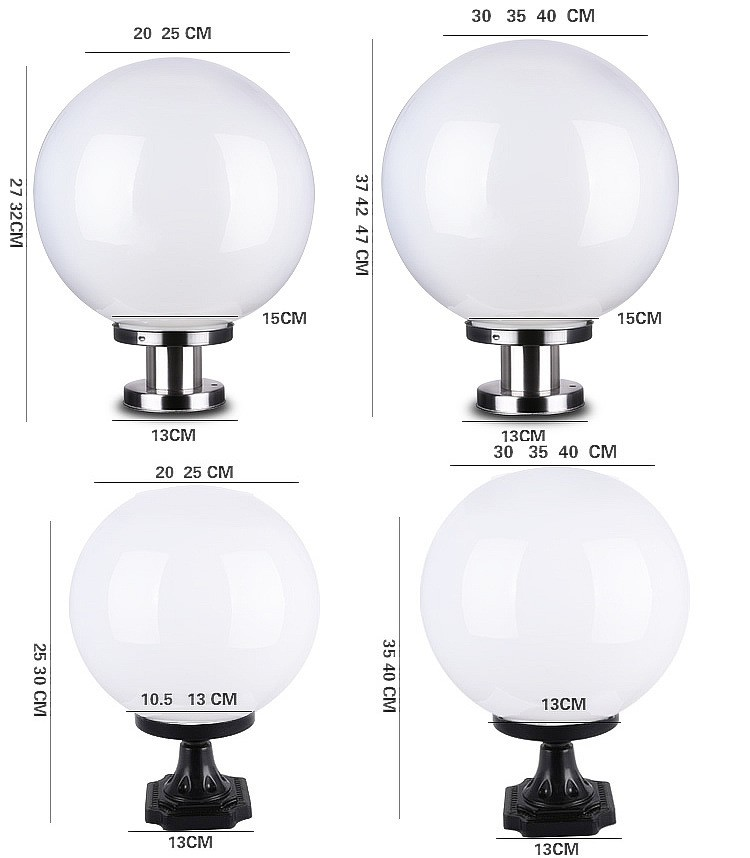 Lampu Pilar Tenaga Surya Luar Ruangan Pagar Perumahan Taman Lanskap Bundar Buy Solar Lampu Pilar Solar Gerbang Depan Lampu Led Outdoor Pillar Gate Cahaya Product On Alibaba Com