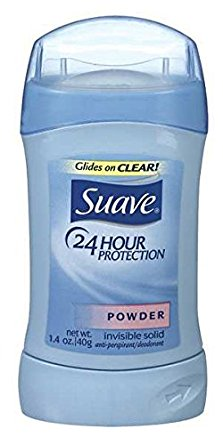 Suave Invisible Solid Anti-Perspirant/Deodorant (Powder, 1.4-Ounce, Case of 12)