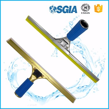 Household Cleaning Product Floor Silicone Squeegee Water Wiper Steel