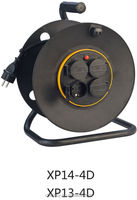 CE GS retractable industrial IP44 power cable reel