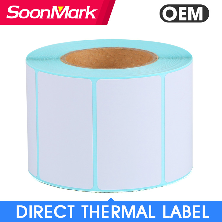 "3"" x 1"" Direct Thermal Address Mailing Labels Self Adhesive permanent Glue Tag Barcode Sticker Roll"