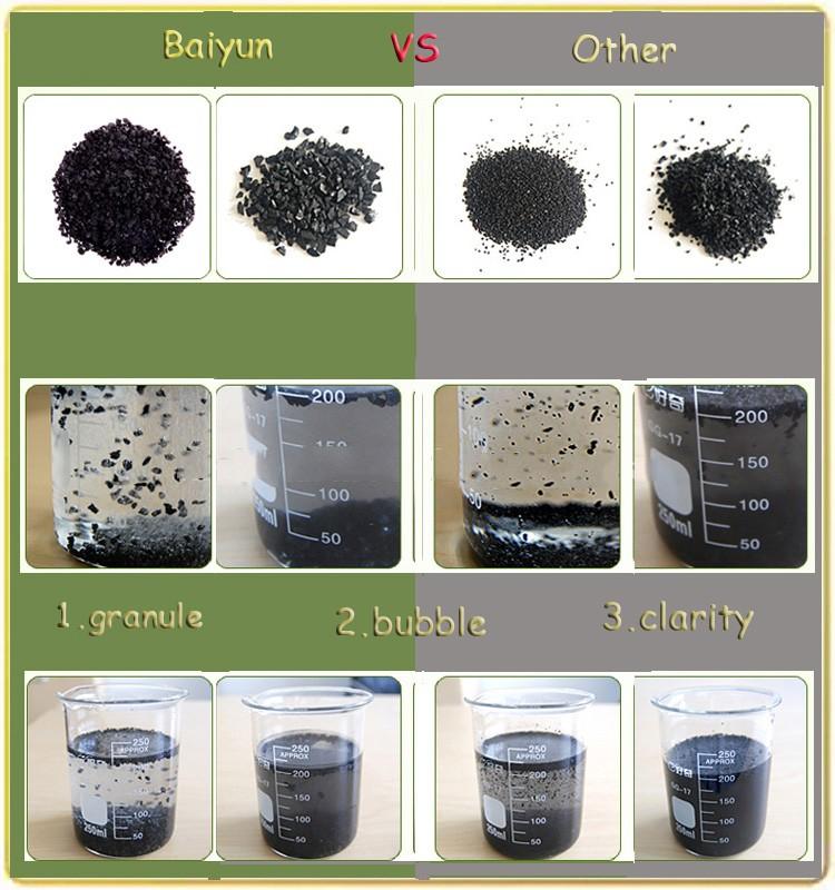 Water Treatment Granular 1-2mm Iodine Value 450-1000 Coconut Shell ...