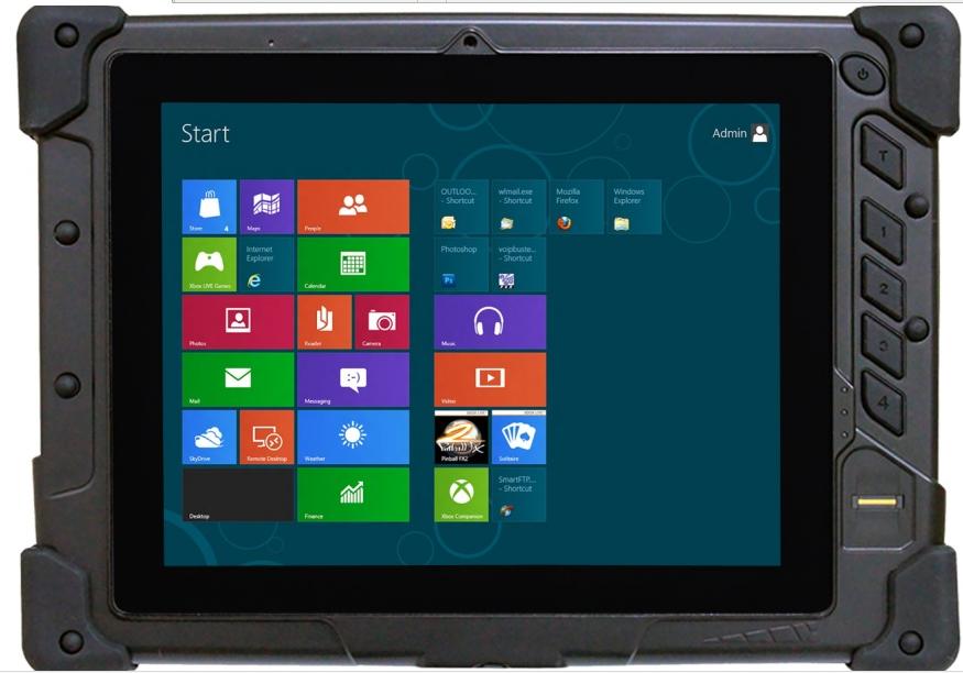 8 Inch Nfc Rfid 2d Barcode Scanner Rs232 Serial Port Rj45 Ethernet 3g Rugged Tablet Pc
