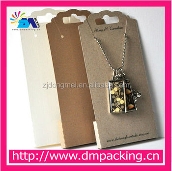 Custom Kraft Paper Necklace Earring Cards With Logo
