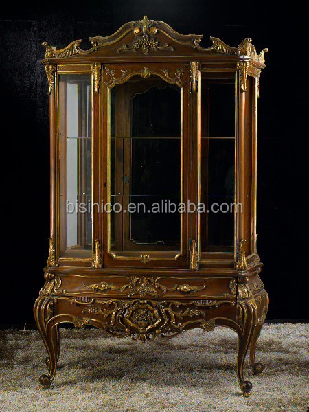 Amazing Exquisite Wood Carved Display Cabinet, Silver Leaf Living Room Side  Cupboard, Noble Silver Wooden Part 31