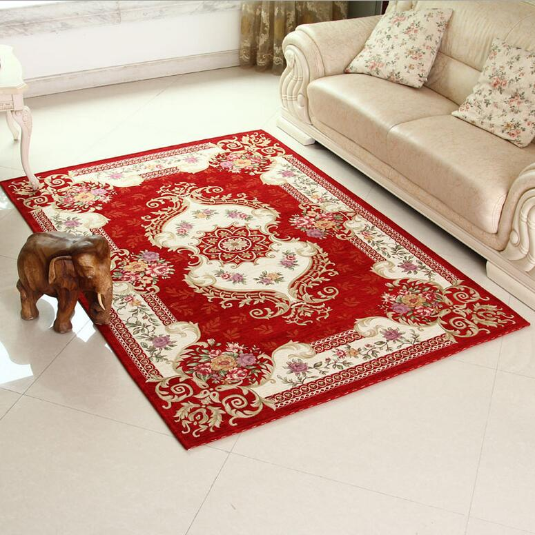 UNIKEA Classical Red Carpet Area Rug For Living Room Large Size Rugs And Carpets For Bedroom Slip Resistance tapis salon