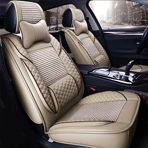 2018 fashion genuine leather 3D customized car seat cover set