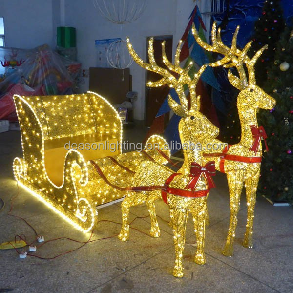 Reindeer With Sleigh Led Christmas Lights Reindeer With Sleigh Led Christmas Lights Suppliers And Manufacturers At Alibaba Com